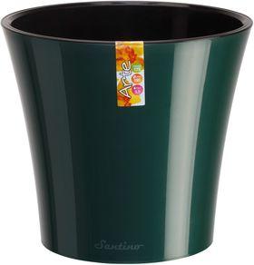 Горшок Santino Арте 20х22 5л зеленый-черный в Симферополе
