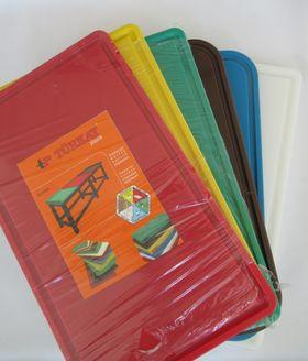Блок разделочный Turkay Plastik с желобом 40x60x2 красный в Симферополе