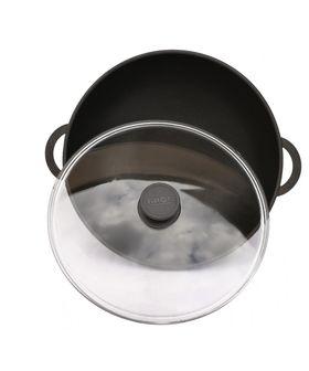 Сковорода Биол 2803ПС с покр. пласт. ручка стеклкрышка Д280 ВОК в Симферополе