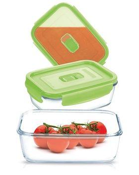 Ёмкость Luminarc 0866 Pure box прямоугольная с зеленый крышкой 820мл. в Симферополе