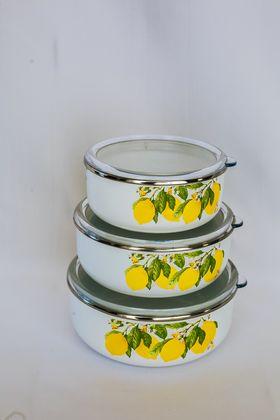 Кастрюля Caprice 299-2413 Эмаль 6,2л мет. крышка Лимоны в Симферополе