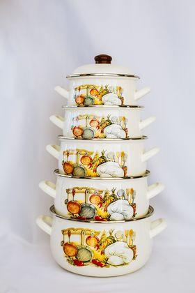 Кастрюля Caprice Эмаль 151-1611 2,1л мет.крышка Кухня в Симферополе