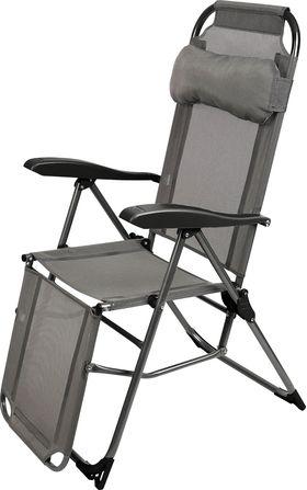 Кресло-шезлонг Ника 3 К3/ГР с подножкой Графитовый в Симферополе