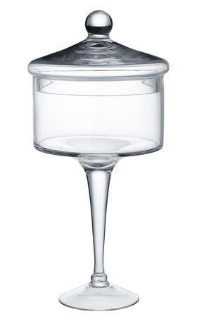 Подсвечник Alegre Glass 55346 ПУ с крышкой 17х35см в Симферополе
