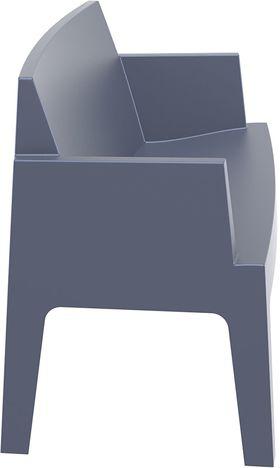 Диван Siesta 063 Box темно-серый цельнопластик. в Симферополе