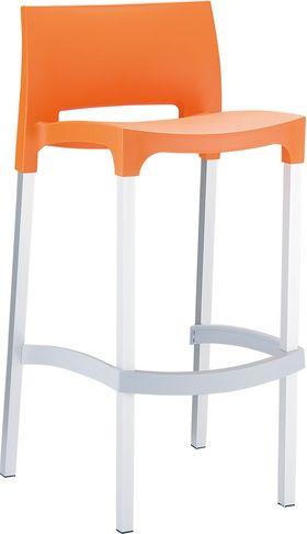 Стул барный Siesta 035 Gio алюм.ножки оранжевый в Симферополе